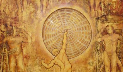 Composizione con il Grande Gong- 2